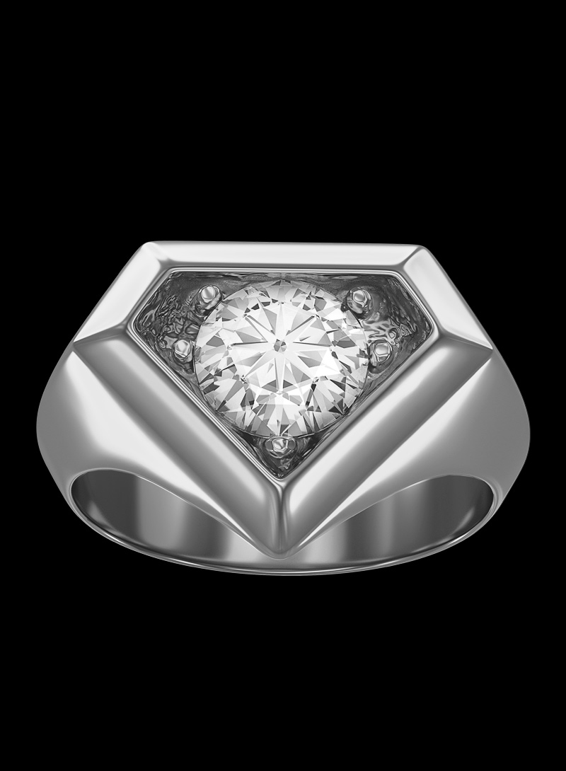 0800 Don Rouch Silver Solitaire Ring Rings Silver