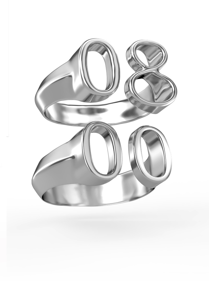 0&00 Rings Silver Rings Silver