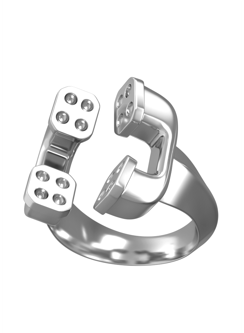 Ring 0800 God's Phone Silver Rings Silver