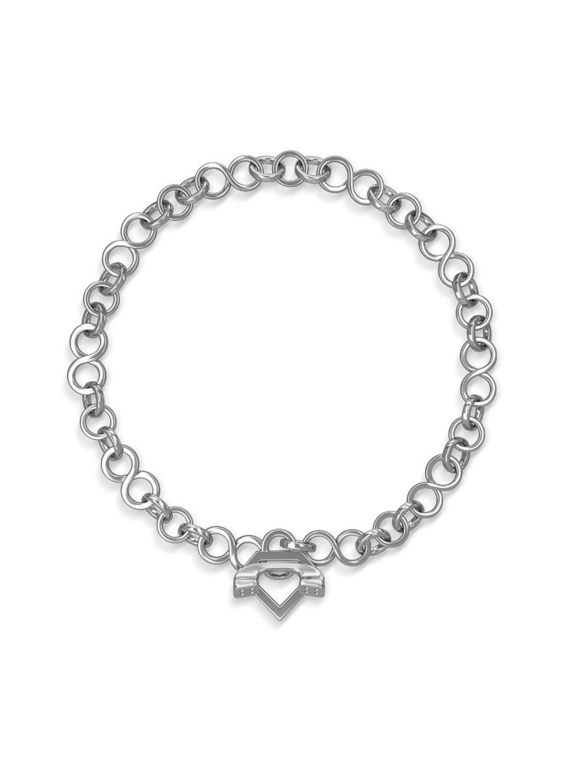 0800 Don Rouch Silver Slim Bracelet Bracelets Silver